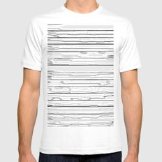 LINE STRUCTURE MEDIUM White Mens Fitted Tee