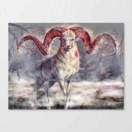 Argali , burning horns Canvas Print