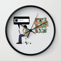 zombies Wall Clocks featuring Zombies by Digital Sketch