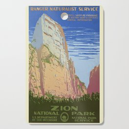 Vintage poster - Zion National Park Cutting Board