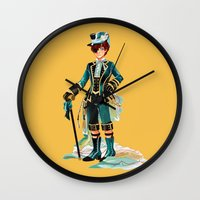 kuroshitsuji Wall Clocks featuring Ciel Phantomhive by niarchery