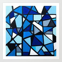 Blue Geometric Art Print