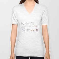 What's Another Name for Synonym?  Unisex V-Neck