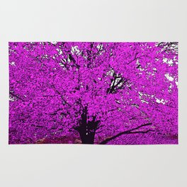 TREES PINK ABSTRACT Rug