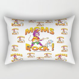 Moms Rock Pattern Rectangular Pillow