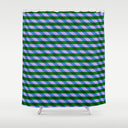 Color_Stripe_2019_002 Shower Curtain
