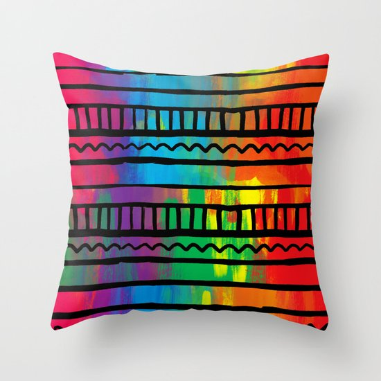 Indigenous traces Throw Pillow