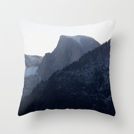 Half Dome in Blue Throw Pillow