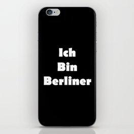 Ich Bin Berliner I am Berlin - Solid White Text iPhone Skin