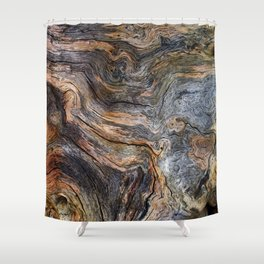 Wood abstract texture Shower Curtain