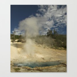Norris Geyser Basin - Beryl Spring Canvas Print