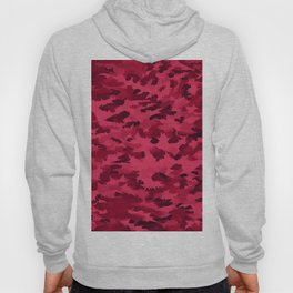 Foliage Abstract Pop Art Blush Red Hoody
