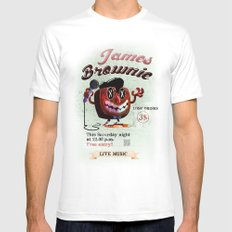 James BROWNIE! White Mens Fitted Tee MEDIUM