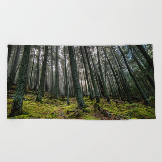 Escape Into The Woods Beach Towel