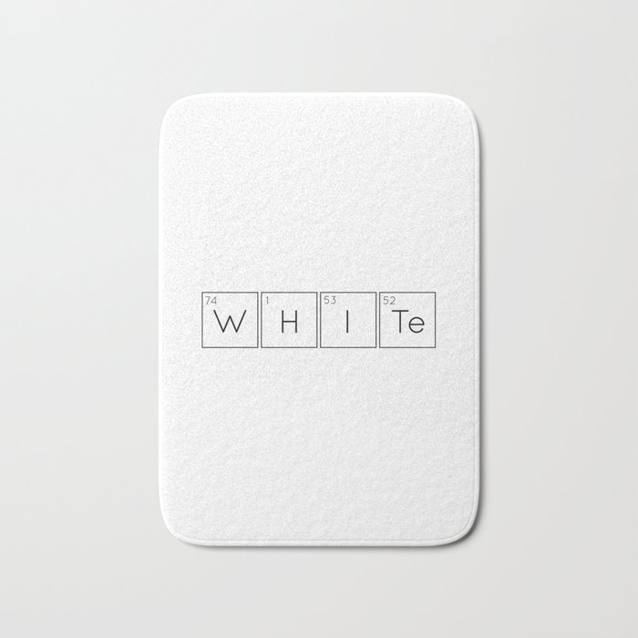 WHITe Chemical Formula Bath Mat