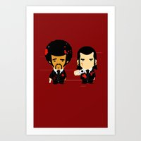 pulp fiction Art Prints featuring pulp fiction by sEndro