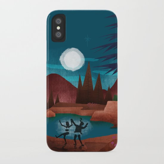 Moondance - Inspired by Wes Anderson's movie Moonrise Kingdom iPhone Case