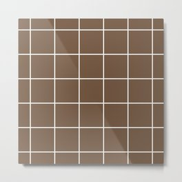 Squares pattern on toffee Metal Print