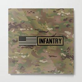 Infantry (Camo) Metal Print