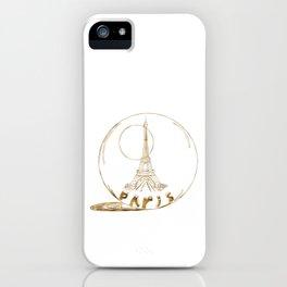 Golden Paris . Eiffel tower . Art iPhone Case