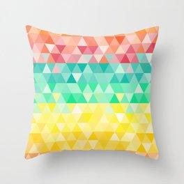 Rainbow triangles Throw Pillow