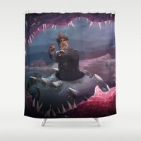 finding nemo Shower Curtains featuring Captain Nemo by Josmen9016