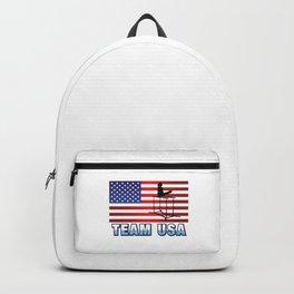 Team USA Parallel Bars Gymnastics American Flag Summer Sports Gift Design Backpack