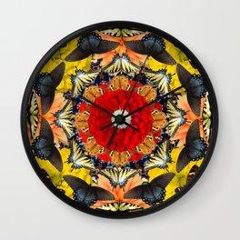 Persian carpet butterflies Wall Clock