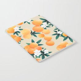 Orange Twist Flower Vibes #9 #tropical #fruit #decor #art #society6 Notebook