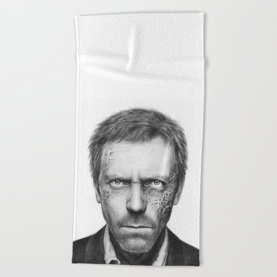 Hugh Laurie from House MD Doctor House Beach Towel