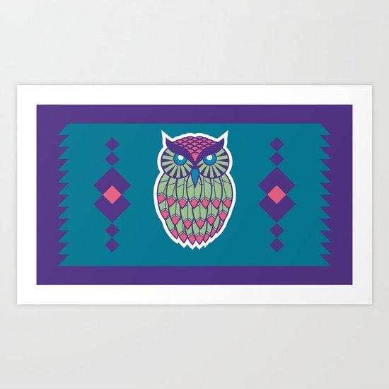 Indie Owl Art Print