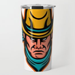 American Cowboy Sports Mascot Travel Mug
