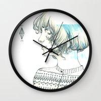 diamond Wall Clocks featuring Diamond by TamSanSerif