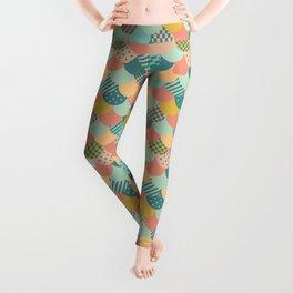 Patchwork Mermaid Scales Leggings