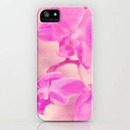 Scripted Orchid iPhone Case