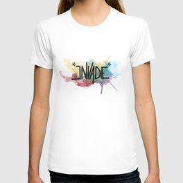 """invade"" T-shirt"