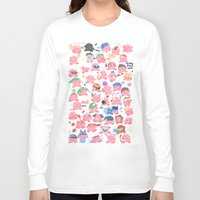 hats Long Sleeve T-shirts featuring (SSB) Hats! Hats! Hats! by Crispy