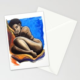 TK Curled Up Stationery Cards