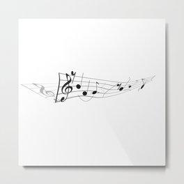 Twisted Music Metal Print