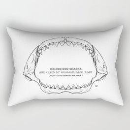 Bite Me Jaws Rectangular Pillow