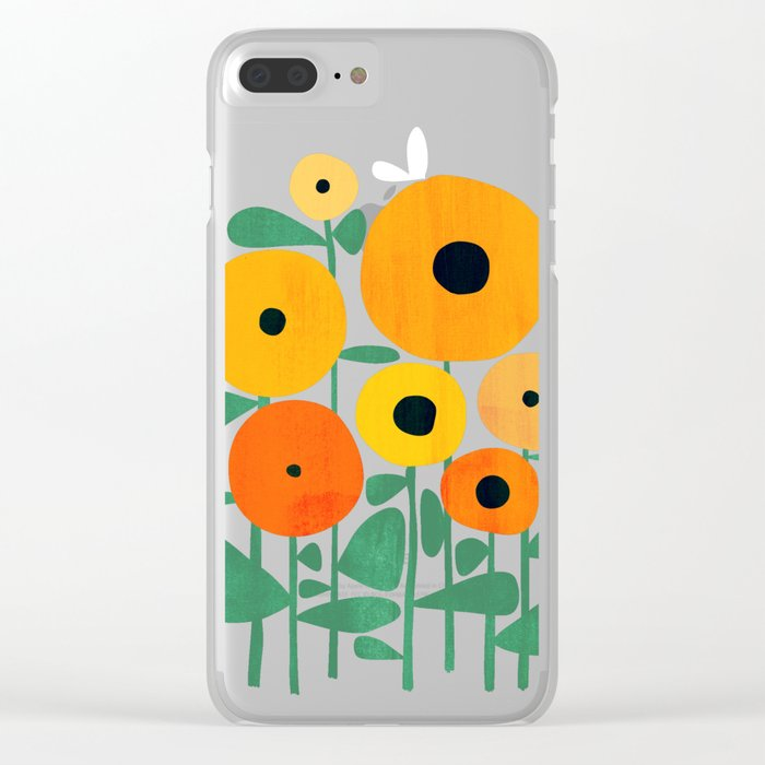 huge discount 08ef8 8f673 Sunflower and Bee Clear iPhone Case