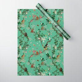 Monkey World Green Wrapping Paper