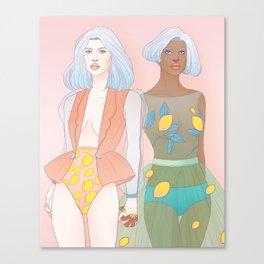 Citron + Limon Canvas Print
