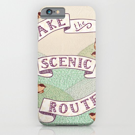 Take the Scenic Route print iPhone & iPod Case