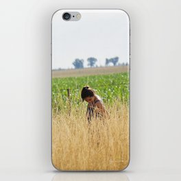 Anabella in the field iPhone Skin