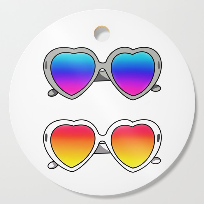 SUNGLASSES by Silvana Arias Cutting Board