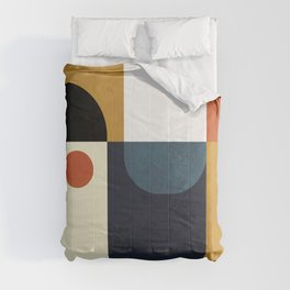 mid century abstract shapes fall winter 4 Comforters