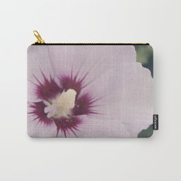 Light Pink Hibiscus Flower Carry-All Pouch