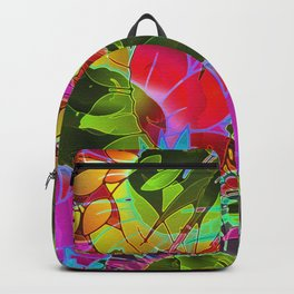Floral Abstract Artwork G125 Backpack