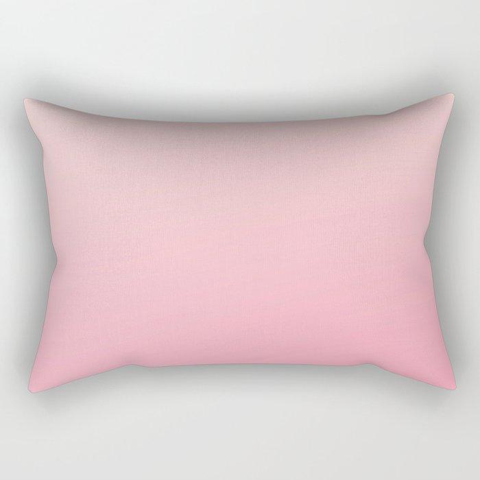 ROSE PETALS - Minimal Plain Soft Mood Color Blend Prints Rectangular Pillow